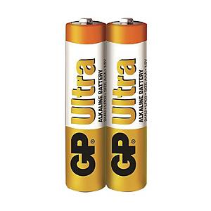 GP Ultra Alkaline Batteries AAA - Pack of 2