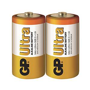 GP Ultra Alkaline Batteries C - Pack of 2