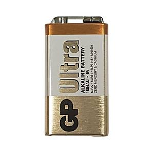 GP Ultra Alkaline Batteries 9V