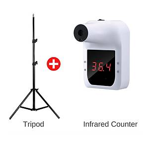 Automatic Non-Contact Digital Infrared Forehead Thermometer - Adjustable Stand