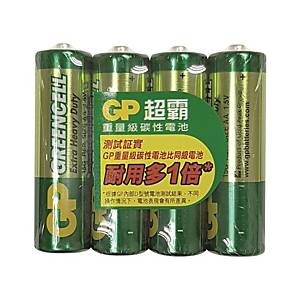 GP Greencell Extra Heavy Duty Batteries AA - Pack of 4