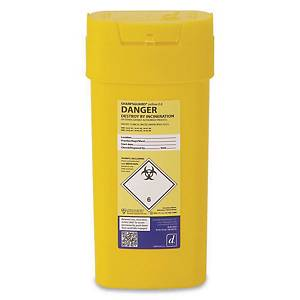 Reliance 4601 Sharps Bin 0.6L Yellow