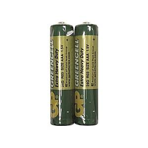 GP Greencell Extra Heavy Duty Batteries AAA - Pack of 2