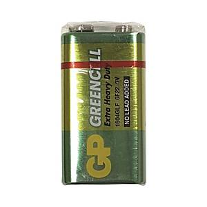 GP Greencell Extra Heavy Duty Batteries 9V
