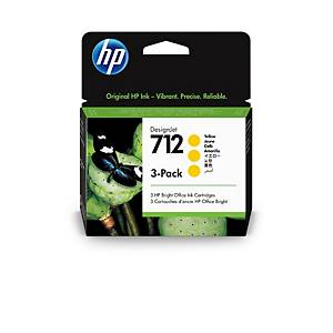 /Cartuccia inkjet HP 3ED79A 29 ml giallo - conf. 3