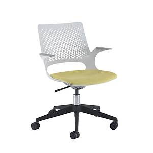 Solus Operators Chair - Black Base/Grey shell Made To Order - Del & Ins