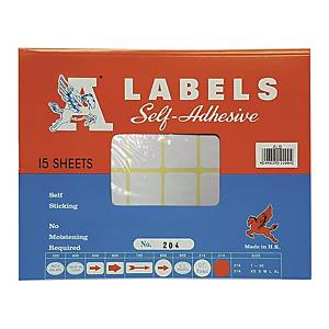 A Labels 204 25 x 76mm - Pack of 240