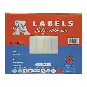 A Labels 207 19 x 50mm - Pack of 450