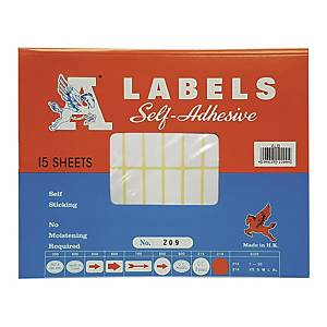 A Labels 209 13 x 38mm - Pack of 840