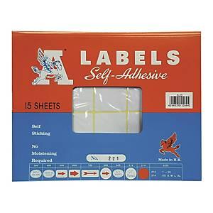 A LABELS 221 白色標籤 38 X 76毫米 每包150個標籤