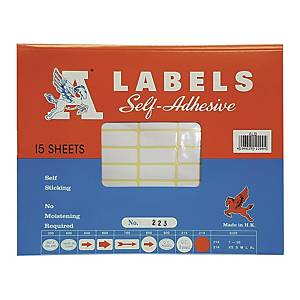 A Labels 223 12 x 30mm - Pack of 990