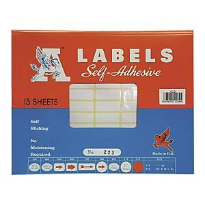 A LABELS 223 白色標籤 12 X 30毫米 每包990個標籤