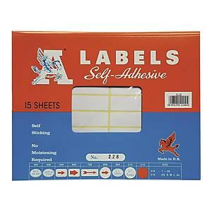A LABELS 228 白色標籤 17 X 100毫米 每包240個標籤
