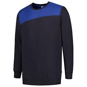 Sweat à coutures Tricorp Bicolor 302013, bleu marine/bleu roi, M, la pièce