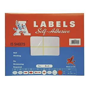 A LABELS 245 白色標籤 50 X 75毫米 每包120個標籤