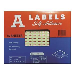 A LABELS 紅色箭咀標籤 每包2940個