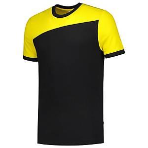 T-shirt à coutures Tricorp Bicolor 102006, noir/jaune, taille 2XL, la pièce
