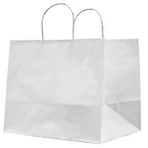 /Shopper Home Delivery in carta kraft 32 x 20 x 33 cm bianco - conf. 25