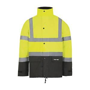 Veste de pluie haute visibilité T2S Sky - jaune fluo - taille S