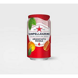 San Pellegrino Sparkling Aranciata Rossa Can 330ml - Pack of 4