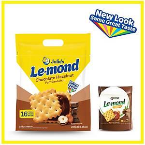 Julie s Le-mond Chocolate Hazelnut Puff Sandwich 288g - pack of 16