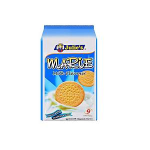 Julie;s Marie Milk Flavour Biscuit 190g - Pack of 9
