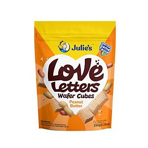 Julie's Love Letters Wafers (Peanut Butter Cream-Filled) - 150g