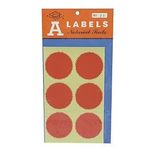 A LABELS 火漆標籤 22 直徑 48毫米 每包24個