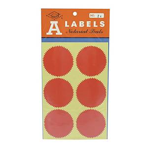 A Labels 24 Sealing Label 54mm - Pack of 24