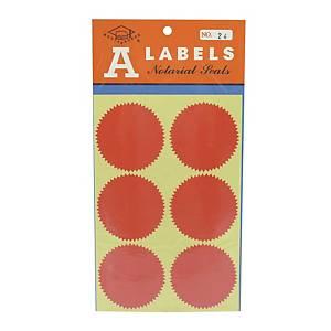 A LABELS 火漆標籤 24 直徑 54毫米 每包24個