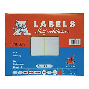 A LABELS 201 白色標籤 50 X 100毫米 每包90個標籤