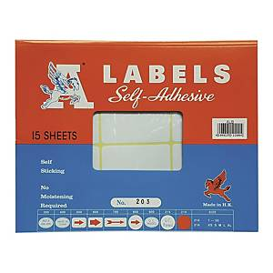 A Labels 203 32 x 64mm - Pack of 180