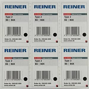 Reiner B6 navulling color box nummerstempel type2 zwart