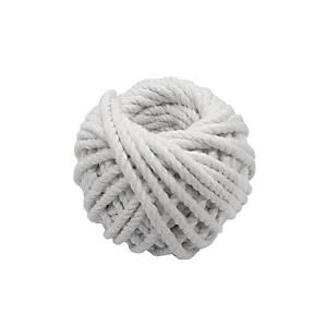 粗白色綿繩球203 - 綿繩直徑4毫米