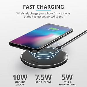 Trust Wireless Charger - Quick Charge - Preto