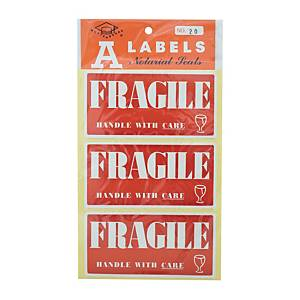 Self-adhesive Label [Fragile] - Pack of 30