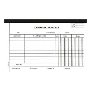 English Accounting Voucher #1771A Transfer