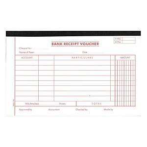English Accounting Voucher #1785A Bank Receipt