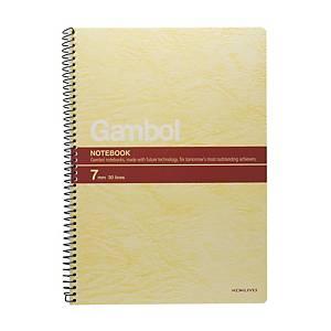 Gambol S6807 鐵圈筆記簿 混色 B5 - 每本80張紙