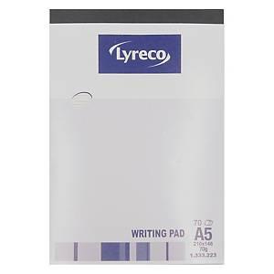 Lyreco Writing Pad A5 - 70 Sheets