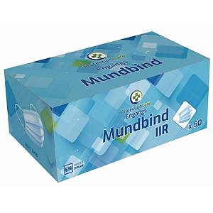 Mundbind Protectioncare, type IIR, blå, pakke a 50 stk.