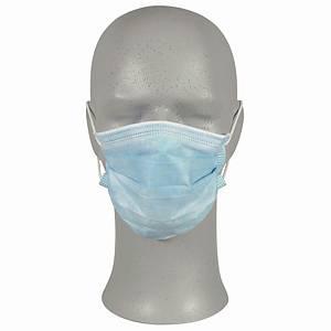 Mundbind Protectioncare, børnestørrelse, type IIR, blå, pakke a 50 stk.