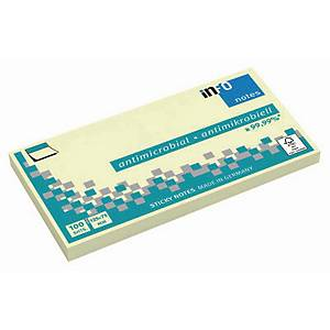 INFO STICKY NOTES ANTIBAC 125X75 YELLOW