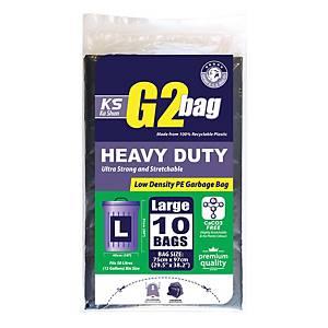 G2 Garbage Bags Large Black - Pack of 10
