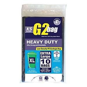 G2 Garbage Bags Extra Large Black - Pack of 10