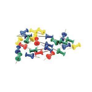 彩色圖針 - 每盒30枚