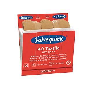 Salvequick 6444 textielpleisters, pak van 6 x 40 stuks