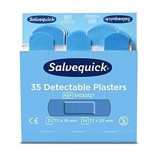 Salvequick 51030127 detecteerbare pleisters, pak van 6 x 35 stuks