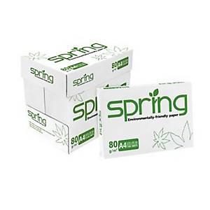 SPRING กระดาษถ่ายเอกสาร A4 80 แกรม ขาว 1 รีมบรรจุ 500แผ่น