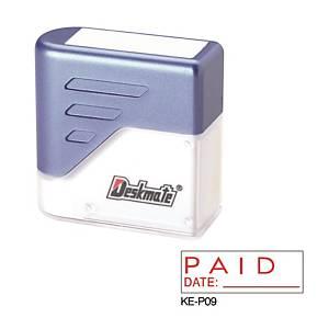 Deskmate KE-P09 [PAID DATE: _____] Stamp